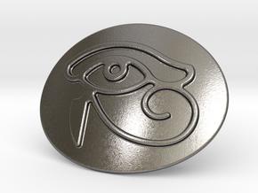 Eye Of Horus Belt Buckle in Polished Nickel Steel