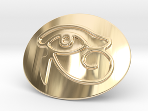 Eye Of Horus Belt Buckle in 14K Yellow Gold
