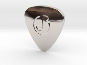 Engraved Logo ThickPick in Platinum