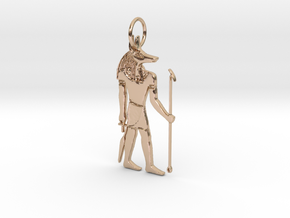 Anubis Power Pendant in 14k Rose Gold Plated Brass