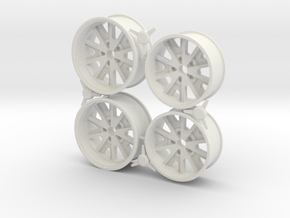 Rims Shelby Cobra style 1/12 in White Natural Versatile Plastic