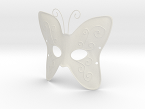 Splicer Mask Butterfly in White Natural Versatile Plastic