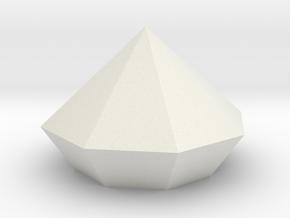 Giamond-1.stl in White Natural Versatile Plastic