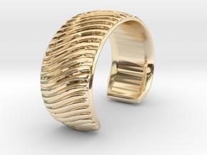 Braid Pattern 2 Cuff Medium A in 14k Gold Plated Brass