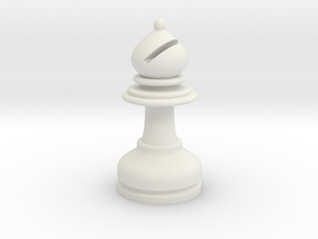 MILOSAURUS Chess LARGE Staunton Bishop in White Natural Versatile Plastic