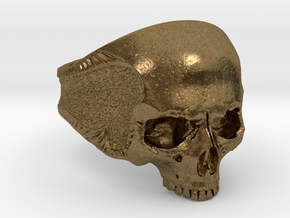 Silver Skull in Natural Bronze