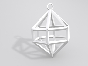 Gem Ornament in White Natural Versatile Plastic