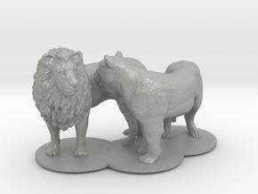 African Lion & Lioness in Aluminum
