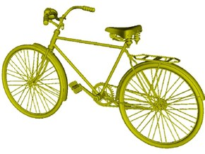 1/16 scale WWII Wehrmacht M30 bicycle model kit in Smooth Fine Detail Plastic