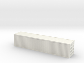 1/250 scale 40 feet Container in White Natural Versatile Plastic