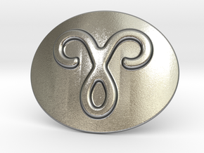 Aries Belt Buckle in Natural Silver