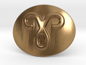 Aries Belt Buckle in Natural Brass