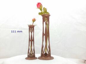 Bud Vase - 111 mm in Polished Bronze Steel