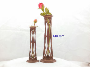 Bronze Metal Bud Vase - 5.8 in (148 mm) in Polished Bronze Steel