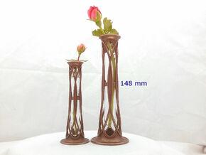 Bronze Metal Bud Vase - 5.8 in (148 mm) in Polished Bronze Steel