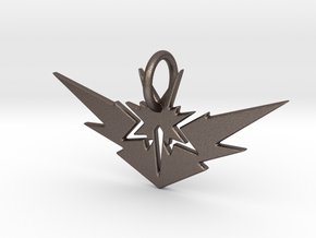 Zapdos Pendant in Polished Bronzed Silver Steel