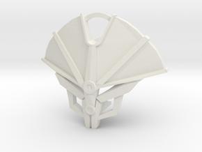 Kanohi Tiaki - Mask of Vigilance in White Natural Versatile Plastic