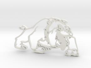 Mini Dog in White Natural Versatile Plastic
