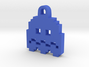 Pac Man Ghost 8-bit Earring 2 (afraid) in Blue Strong & Flexible Polished