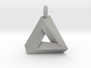 Penrose Triangle - Pendant (3cm | 3.5mm O-Ring) in Aluminum