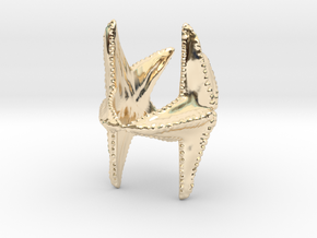 Starfish napkin holder in 14k Gold Plated Brass