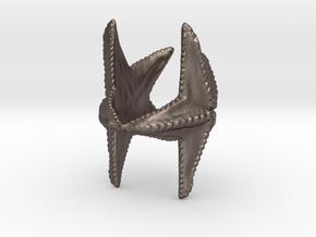 Starfish napkin holder in Polished Bronzed Silver Steel
