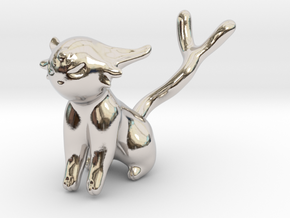 Espeon in Rhodium Plated Brass