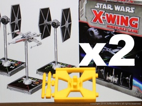 X-Wing Gaming Base (Small), 2 Bases in Yellow Strong & Flexible Polished