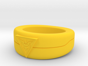 Team Instinct Triangle Ver Size 6.5 in Yellow Processed Versatile Plastic