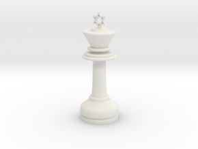 MILOSAURUS Chess LARGE Star of David King in White Strong & Flexible
