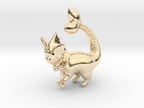 Vaporeon in 14k Gold Plated Brass