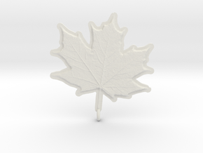 Maple Leaf Rock in White Natural Versatile Plastic