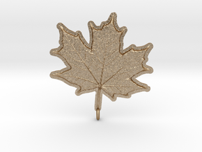 Maple Leaf Rock in Matte Gold Steel