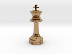 MILOSAURUS Chess MINI Staunton King in Polished Brass