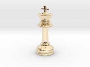 MILOSAURUS Chess MINI Staunton King in 14k Gold Plated Brass