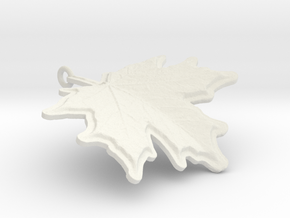 Yummy Maple Leaf Chocolate in White Natural Versatile Plastic