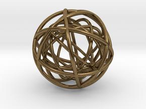 Woven Globe Pendant in Natural Bronze