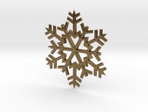 Snowflake Pendant in Natural Bronze