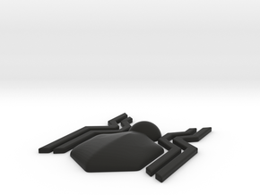 Spider-Man Homecoming Front Spider (120 mm) in Black Natural Versatile Plastic
