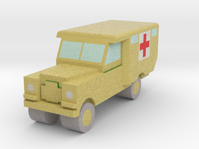 1/148 Land Rover S2 Ambulance x1 - Army, Sand in Full Color Sandstone