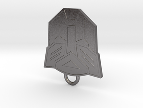 Autobot Fan Keychain in Polished Nickel Steel
