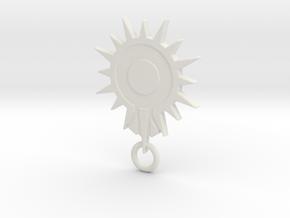 Blacksun Fan Keychain in White Natural Versatile Plastic