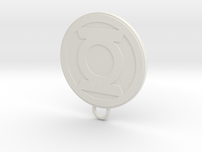 Lantern Fan Keychain in White Natural Versatile Plastic
