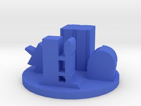 Game Piece, Spaceport Token in Blue Processed Versatile Plastic