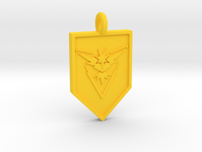 Team Instinct Badge Keychain in Yellow Processed Versatile Plastic