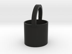 Bucket in Black Natural Versatile Plastic