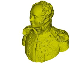 1/9 scale General Joseph Piston bust in Frosted Ultra Detail