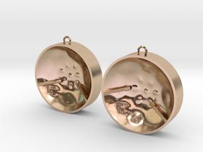 "Double Tenor ""damntingself"" earrings, L in 14k Rose Gold Plated Brass"