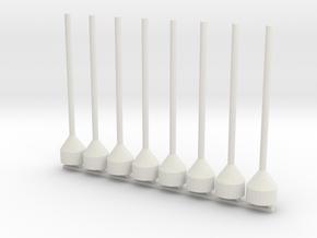 48th Scale 4 Dan Buoys in White Natural Versatile Plastic