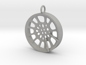"High Tenor ""void"" steelpan pendant, M in Raw Aluminum"